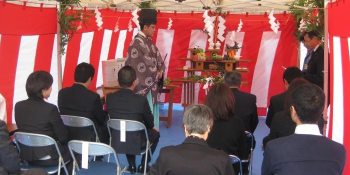 南太田で地鎮祭